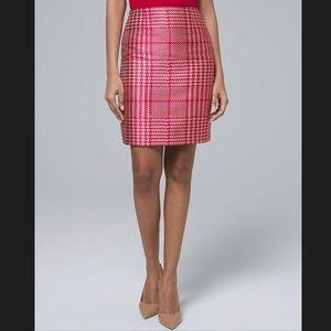 WHBM Plaid Boot Skirt